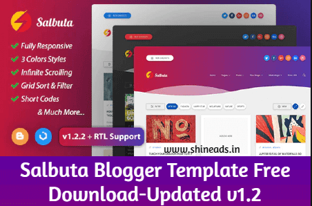 [FREE] SALBUTA BLOGGER THEME DOWNLOAD-Updated v1.2