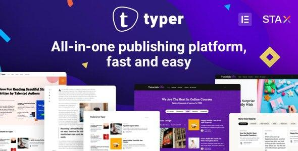 [Download] Typer - Amazing Blog and Multi Author Publishing Theme