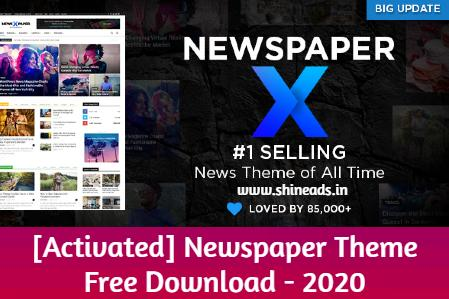 [Activated] Newspaper Theme Free Download - 2020
