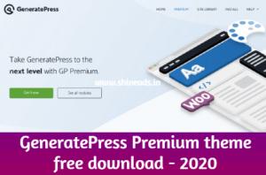 [Latest] GeneratePress Premium theme free download - 2020