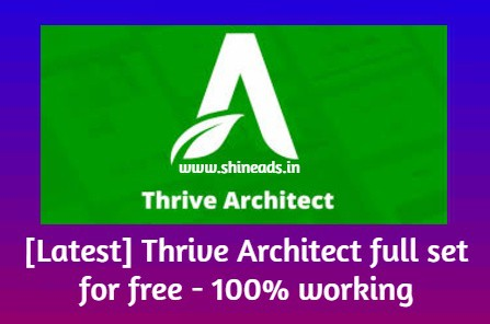 [Latest] Thrive Architect full set for free - 100% working