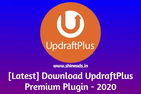[Latest] Free Download UpdraftPlus Premium Plugin - 2020