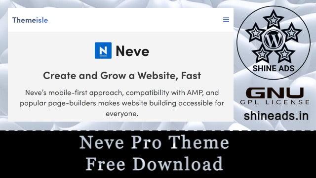 Neve Pro Theme Free Download