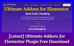 [Latest] Ultimate Addons for Elementor Plugin Free Download