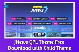 JNews GPL Theme Free Download with Child Theme