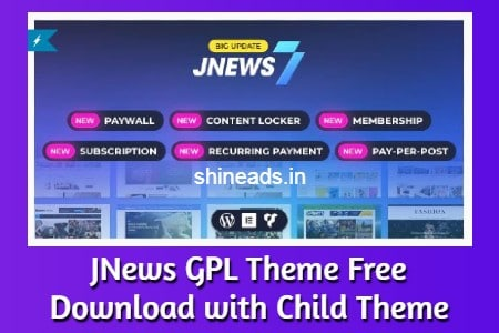 JNews GPL Theme Free Download with Child Theme