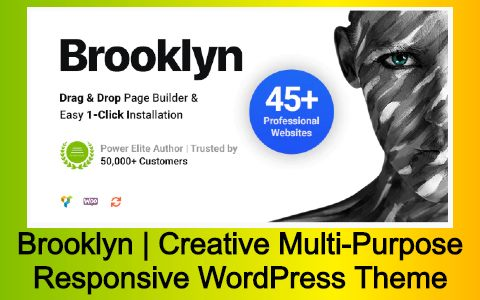 Brooklyn | Creative Multi-Purpose Responsive WordPress Theme Free Download
