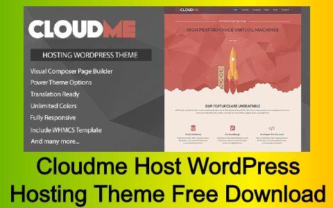 Cloudme Host WordPress Hosting Theme Free Download