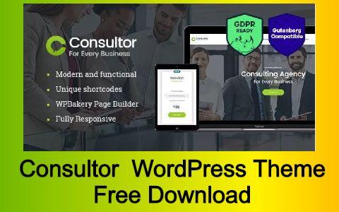 Consultor A Business Financial Advisor WordPress Theme Free Download