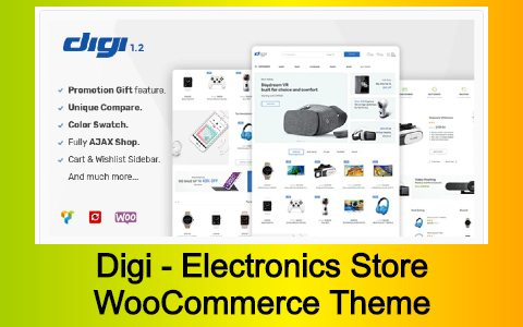 Digi - Electronics Store WooCommerce Theme Free Download