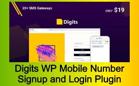 Digits WordPress Mobile Number Signup and Login Plugin