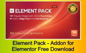 Element Pack - Addon for Elementor Page Builder WordPress Plugin Free Download