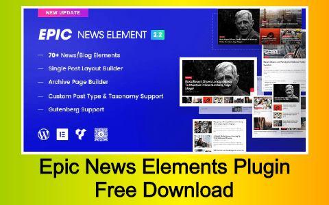 Epic News Elements