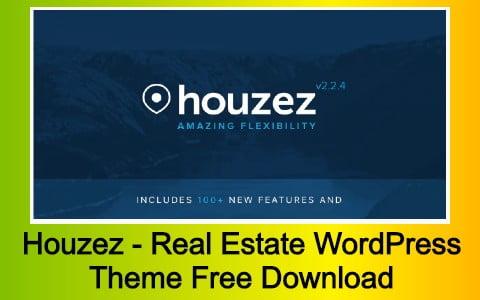 Houzez - Real Estate WordPress Theme Free Download