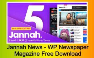 Jannah News - WP Newspaper Magazine News AMP BuddyPress Free Download