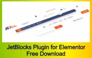 JetBlocks Plugin for Elementor Free Download
