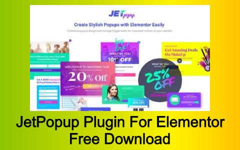 JetPopup Plugin For Elementor Free Download