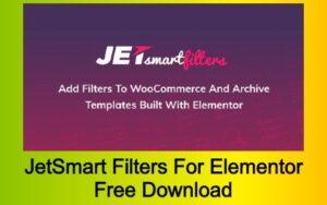 JetSmart Filters For Elementor Free Download