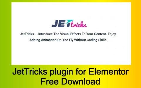 JetTricks plugin for Elementor Free Download