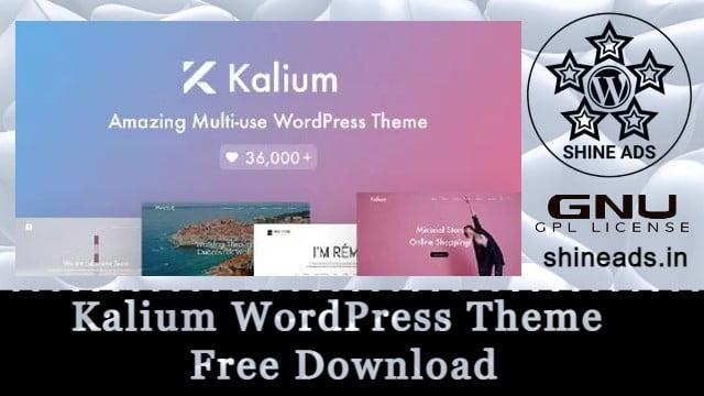 Kalium WordPress Theme  Free Download