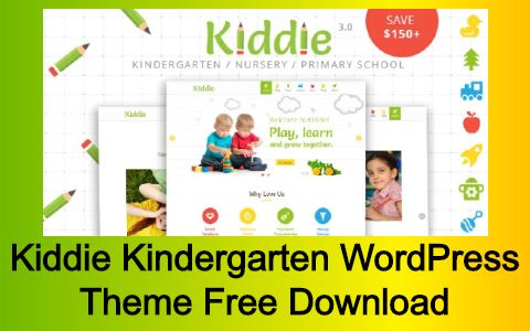 Kiddie Kindergarten WordPress Theme Free Download
