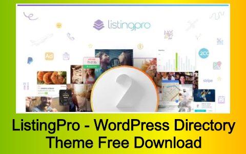 ListingPro - WordPress Directory Theme Free Download