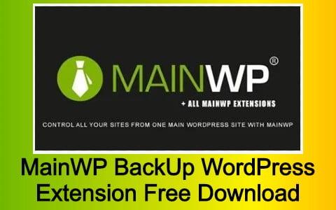 MainWP BackUp WordPress Extension Free Download