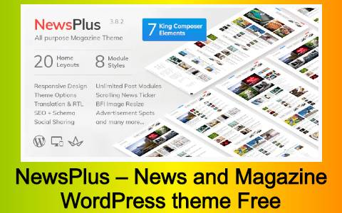 NewsPlus – News and Magazine WordPress theme Free Download