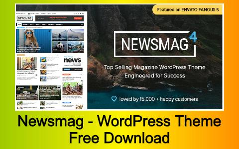 Newsmag - Newspaper & Magazine WordPress Theme Free Download