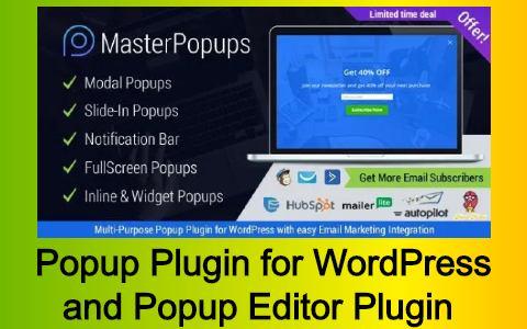 Popup Plugin for WordPress & Popup Editor Plugin Free Download