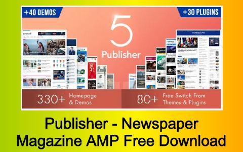 Publisher - Newspaper Magazine AMP Free Download