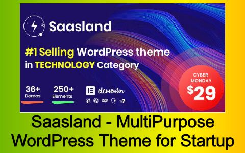 Saasland - MultiPurpose WordPress Theme for Startup Free Download