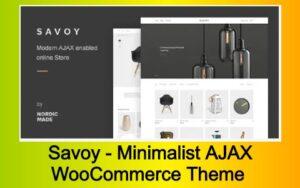 Savoy - Minimalist AJAX WooCommerce Theme Free Download