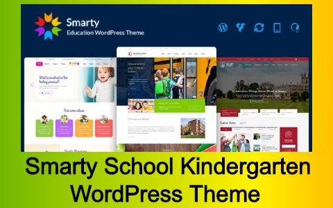 Smarty School Kindergarten WordPress Theme Free Download