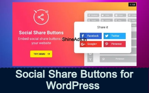 Social Share Buttons for WordPress Plugin Free Download