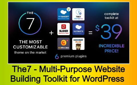 The7 - Multi-Purpose Website Building Toolkit for WordPress Free Download