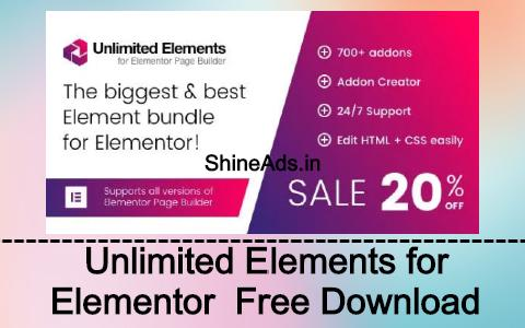 Unlimited Elements for Elementor Page Builder Free Download