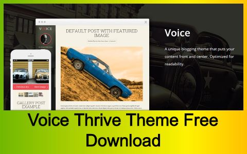 Voice Thrive Theme Free Download