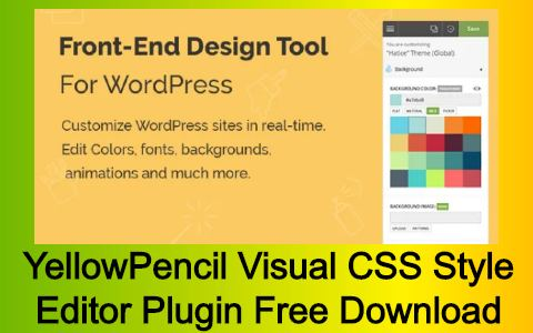 YellowPencil Visual CSS Style Editor Plugin Free Download