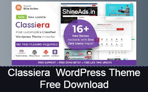 Classiera - Classified Ads WordPress Theme Free Download