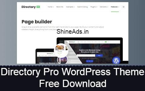 Directory Pro WordPress Theme Free Download