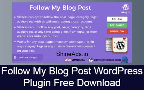 Follow My Blog Post WordPress Plugin Free Download