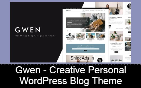 Gwen - Creative Personal WordPress Blog Theme