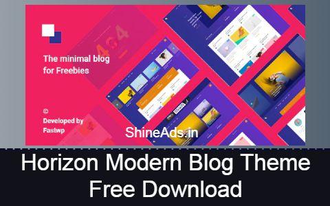 Horizon Modern Blog Theme Free Download