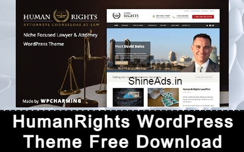 HumanRights - Lawyer and Attorney WordPress Theme Free Download