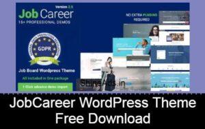 JobCareer | Job Board Responsive WordPress Theme Free Download