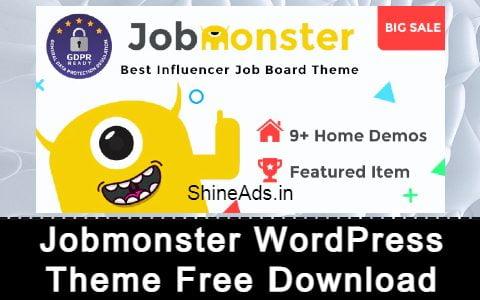 Jobmonster WordPress Theme Free Download