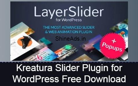 Kreatura Slider Plugin for WordPress Free Download