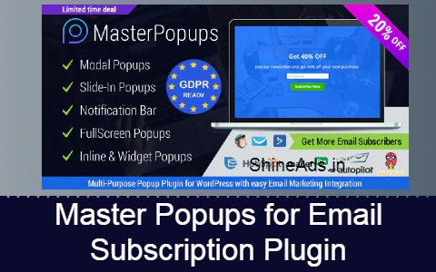 Master Popups for Email Subscription Plugin Free Download
