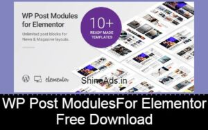 WP Post Modules for NewsPaper and Magazine Layouts Free Download